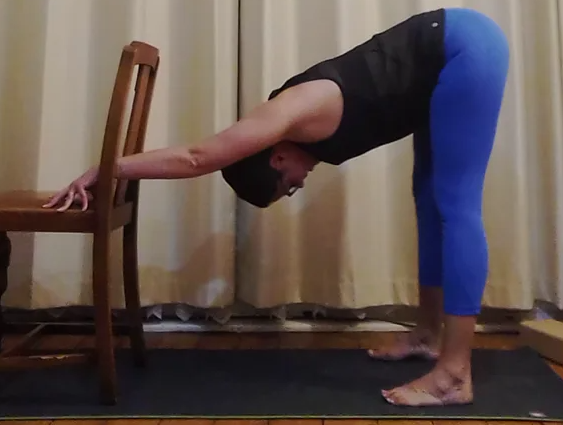 Aggie Zadanska-Draper - Yoga using a chair