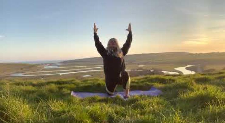 Eva Kristlova - Sunset yoga in Cuckmere Haven
