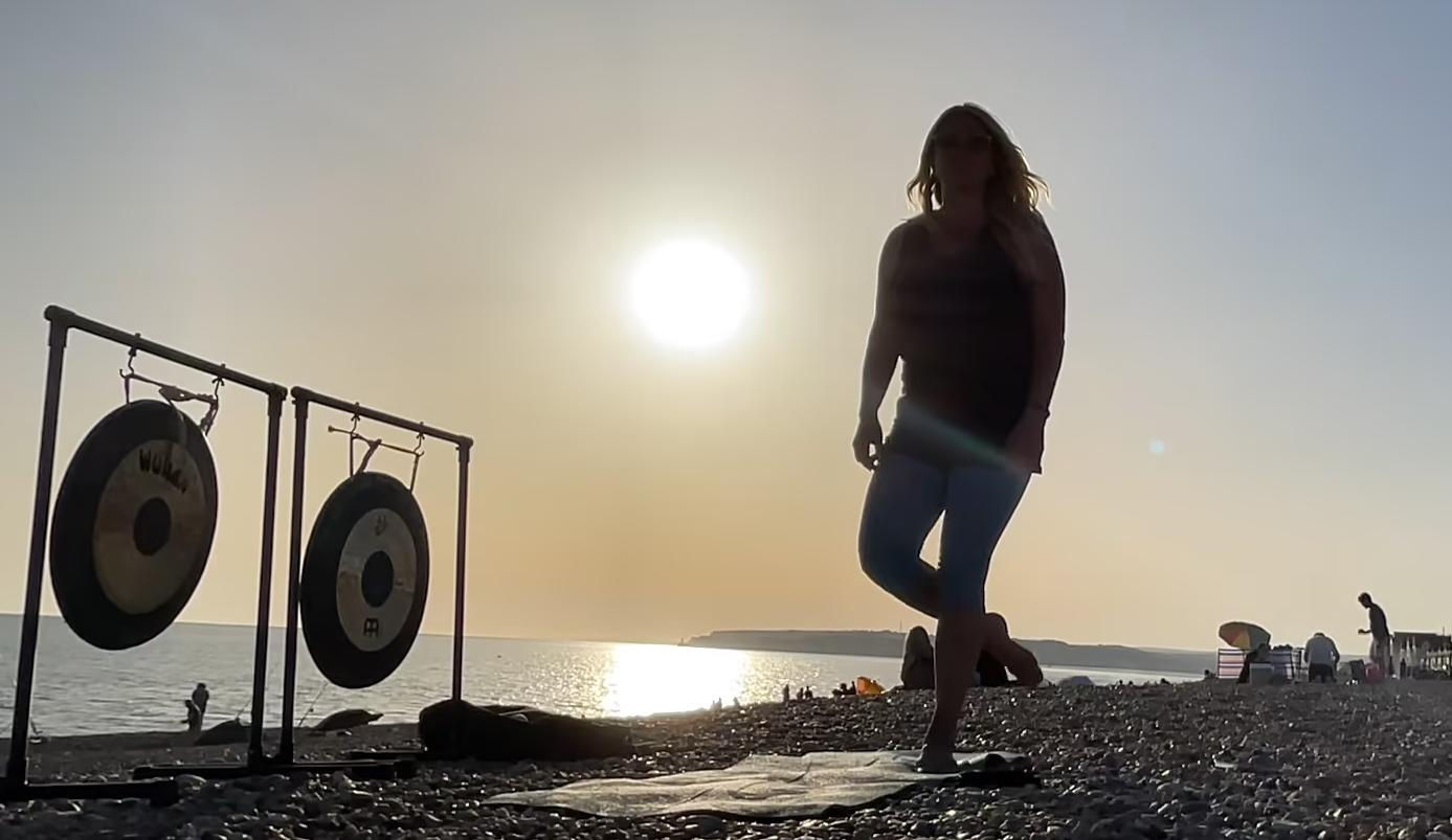Eva Kristlova - Sunset Beach Yoga in Seaford