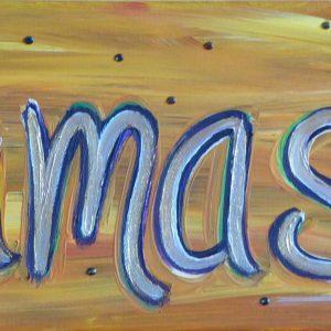 Namaste Gold Painting
