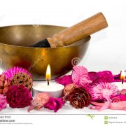 tibetan-bowl-flowers-candles-38407834