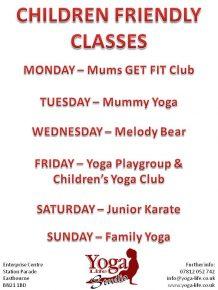 Child friendly classes
