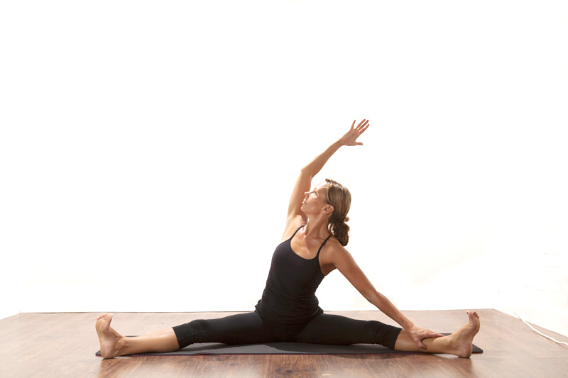 Posture of the month - June - Wide leg Seated Side Stretch ~ Parsva