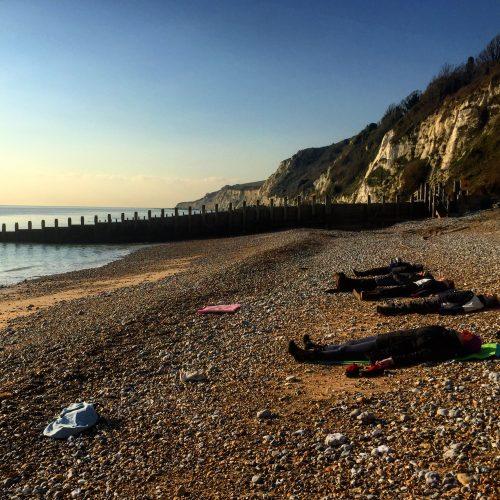 Beach Yoga in January. In England..