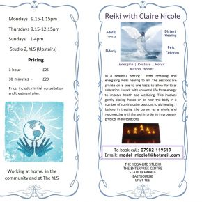 Reiki healing with Claire Nicole