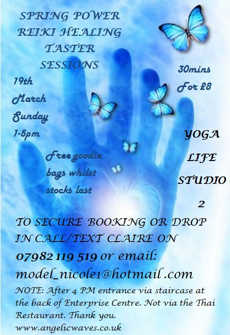 Reiki at the Yoga Life Studio