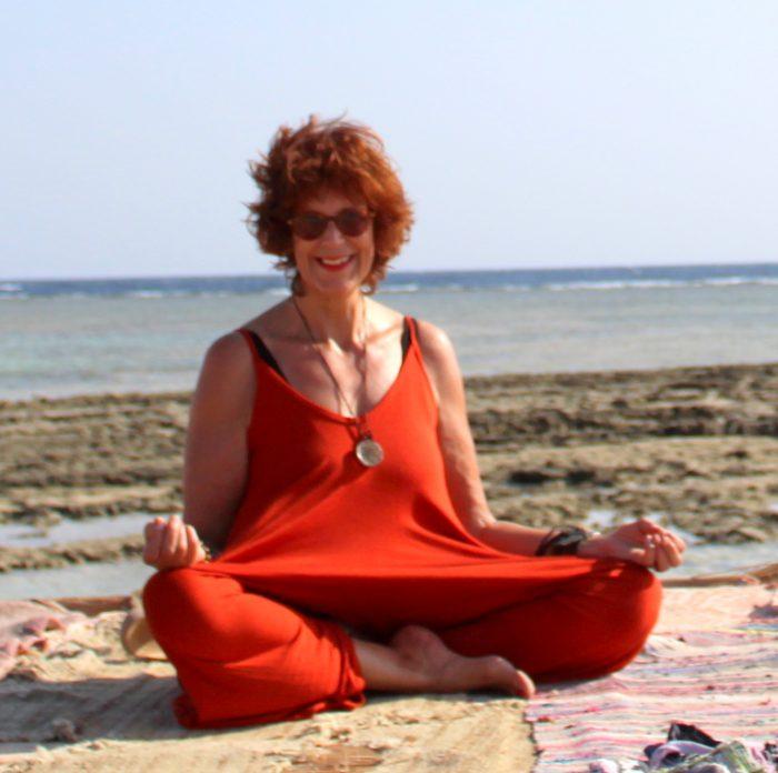 sunny sukhasana beach egypt