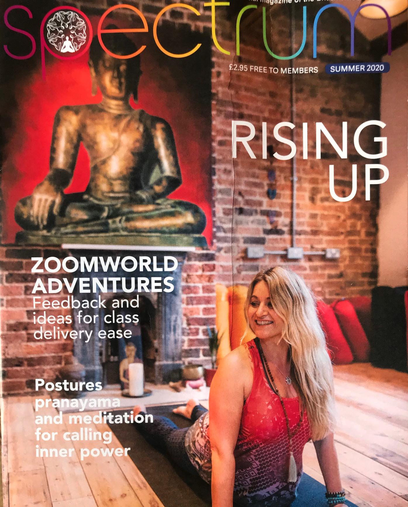 Yoga Life feature in the Spectrum Magazine