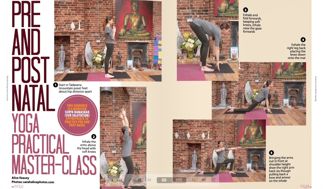 Alice's Masterclass in the YOGA Magazine