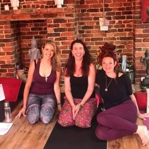 Our fabulous Yoga Life Teacher Training Graduates! Georgina, Frankie and Alexa
