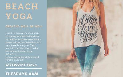 Beach Yoga is rocking Eastbourne
